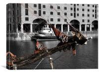 Liverpool Docks, Canvas Print