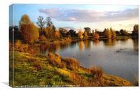 Autumn Coloured Lake, Canvas Print