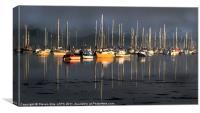 Boats at Night, Canvas Print