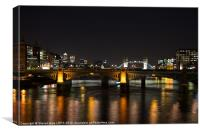 London Bridges at Night, Canvas Print