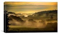 Early Morning in the Ardennes, Canvas Print