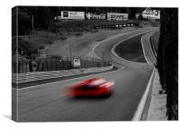 A red car in a black and white world, Canvas Print