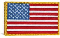 US Flag Patch, Canvas Print