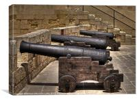 Medieval Cannons, Canvas Print
