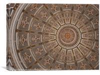 St Catherine's Church Dome Interior in Zurrieq, Canvas Print