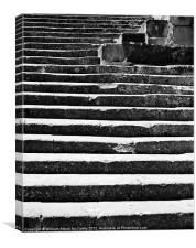 Medieval Steps Abstract, Canvas Print