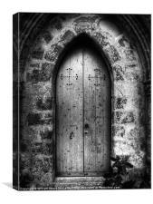 Gothic Chapel Door, Canvas Print