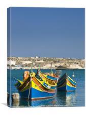 Malta Fishing Village, Canvas Print