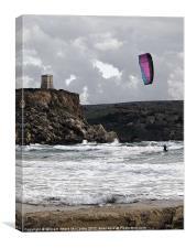 Kite Surfing, Canvas Print