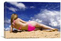 Bikini Babe, Canvas Print