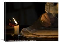 Candlelight &  Quill, Canvas Print