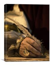 Quill and Signet Ring, Canvas Print