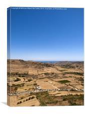 Gozo Landscape, Canvas Print