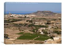 Gozo Countryside, Canvas Print