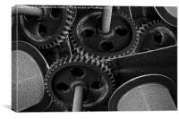 Clockwork Monochrome, Canvas Print
