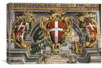Palace Fresco, Canvas Print