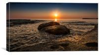 Sunrise Rock, Canvas Print