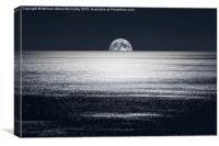 Peek-a-Boo-Moon, Canvas Print