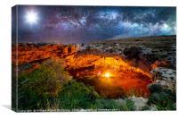 Ghajn Tuta Cave by Night, Canvas Print