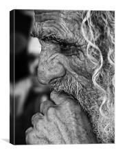Old Man's Prayer, Canvas Print