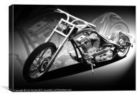 Custom bike, Canvas Print