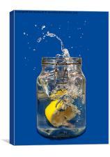 Lemon splash, Canvas Print