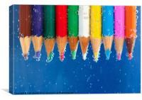 Colour pencils, Canvas Print