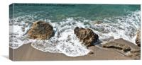 On the beach, Canvas Print