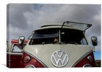 Volkswagen campervan, Canvas Print
