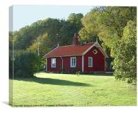 Swedish Cottage, Canvas Print