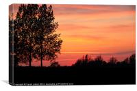May Sunset, Canvas Print