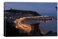 Scarborough by night, Canvas Print