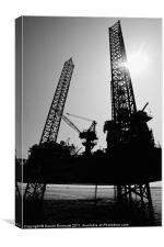 The Oil Rig, Canvas Print