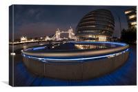 City Hall london Tower Bridge, Canvas Print