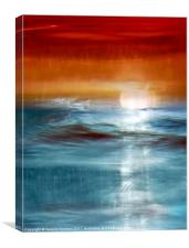 Sunset Seascape Abstract, Canvas Print