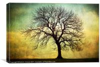 Digital Art Tree Silhouette, Canvas Print