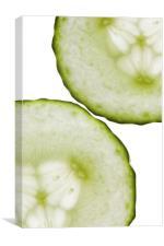 Cucumber Green White Wall Art, Canvas Print