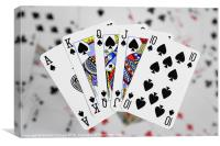 Playing Cards, Royal Flush, Canvas Print