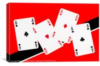 Playing Cards, Aces, Canvas Print
