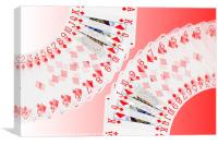 Playing Cards all the Diamonds, Canvas Print