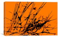 Strike Out Orange and Black Abstract, Canvas Print