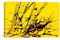 Strike Out Yellow and Black Abstract, Canvas Print