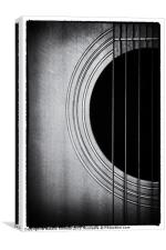 Guitar Film Noir, Canvas Print