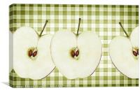 Country Style Apple Slices, Canvas Print