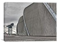 The Glasgow Armadillo & Crane, Canvas Print
