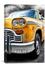 New York Yellow Cab, Canvas Print