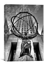 Atlas and the Rock NYC, Canvas Print