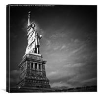 Lady Liberty Shining Bright, Canvas Print