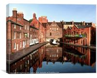 Gas Street Basin Birmingham, Canvas Print