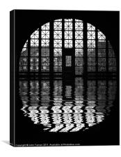 Ellis Island window, Canvas Print